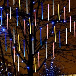 lámparas de burbujas de agua Rebajas 20 cm 30 cm 50 cm impermeable DIP LED lluvia de meteoros Tubos de lluvia Iluminación LED para la fiesta Decoración de la boda Vacaciones de Navidad LED Luz de meteorito