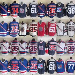 Wholesale richter rangers jersey - New York Rangers Jersey 36 Mats Zuccarello 61 Rick Nash 77 Phil Esposito 35 Mike Richter 34 John Vanbiesbrouck Hockey Jerseys