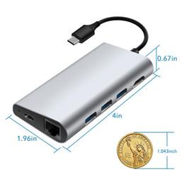 8 puertos Tipo C HUB HDMI 4K USB 3.0 Puertos SD TF USB 3.0 Lector de tarjetas Puerto Lan Tipo-C Puerto de carga desde fabricantes