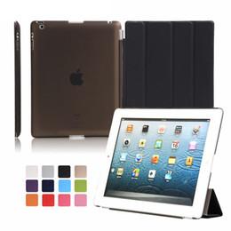 nouveaux étuis arrière Promotion Ultra Slim Trois fois en cuir PU Hard Back Cover Smart Case Cover pour iPad Air 1 2 Pro 9,7 10,5 nouvel iPad 2017 2018 Mini 123 Mini 4