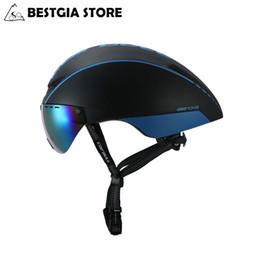 Casco goggles on-line-Cairbull Aero-R1 Ciclismo Capacete Magnetic Goggles Bicicleta Capacete Da Estrada Montanha Mtb Pneumáticos Tt Capacetes Casco Ciclismo Cap