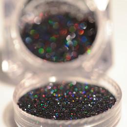 2019 черный лазерный блеск 2Pcs Laser Glitter  Set Holo Silver Black Glitters Nailart Manicure Holographic Paillettes Nail Sequins Nail Dipping дешево черный лазерный блеск