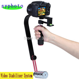 Wholesale Steadicam Dslr Stabilizer - New Pro Smooth Video Stabilizer Handheld Handle Cam Grip Steadicam for DV Camcorder DSLR Camera Free shipping