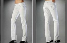 2019 pantalones de mujer de marca Blanco Negro Señoras pantalones vaqueros largos para mujer delgado atractivo VERDADERO Jeans de marca Diseño de bolsillo Religión Pantalones largos Ropa para mujer Pantalones pitillo pantalones de mujer de marca baratos