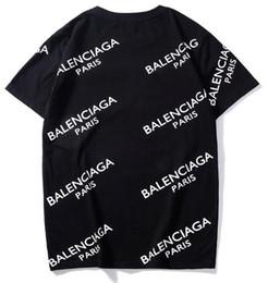 мужская мода логотип футболки Скидка Unisex Горячей продажи Paris Design Мужчина Печатные Bb Полного Logo РЕЖИМ Tee рубашка Рубашка женская мода женщины Barcelo Тонкие моды Вязаных топы футболка ТМ