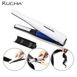 RUCHA Mini Fer À Lisser En Céramique Fer Bigoudi Li-ion Batterie Rechargeable Portable Voyage Cheveux Lisseur Fers ? partir de fabricateur