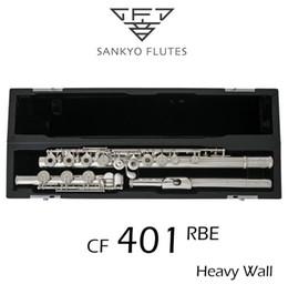 2019 chiave c Professionale Sankyo CF-401 FLUTE ETUDE E Chiave Split Argento Placcato Flute C tono 17 Fori Aperto Offset G Copia sconti chiave c