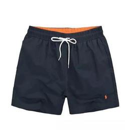 Shorts da praia dos homens xxl on-line-Hot Summer polo Mens praia Calças Marca AAA Roupas Swimwear Nylon Homens Marca Praia Shorts Pequeno cavalo Swim Desgaste Board Shorts Tamanho M-XXL