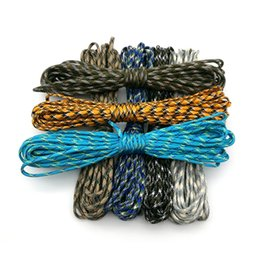 Wholesale camouflage lanyards - Camouflage 33ft (10m )Paracord 550 Parachute Cord Lanyard Mil Spec Type Iii 7 Strand Camping Survival Equipment Tents Rope