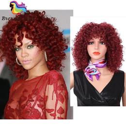 Coiffure africaine synthétique courte perruques frisées pour les femmes noires synthétique cheveux blonde et brune ? partir de fabricateur