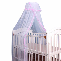 Wholesale Crib Bedding For Girls - Summer Baby Bed Net Crib Netting Portable Mosquito Net Baby Infant Canopy Round Dome Bed Canopy Mosquito for Cribs