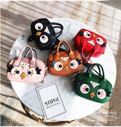 Wholesale Owl Leather Bag - Kids Purses 2018 Baby Girl Pu Leather Bags Kids Girsl Princess Cartoon Owl Hangbag Women Korean Style Cross-body Fashion Chain Bag