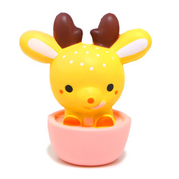 Wholesale elastic phone strap - Kawaii Jumbo Squishy Scented Simulation PU Deer Cup Shape Squishies Elastic Soft Doll Phone Strap Creative 18 8mn BR