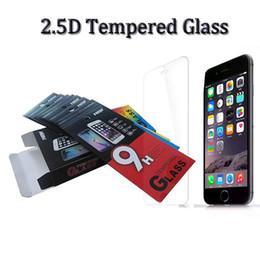 Schermo 2.5 online-Nuovo arrivo 2.5 d 9 H temperato protezione del vetro pellicola proteggi-schermo della copertura del film duro per iphone x 7 8 plus samsung s8 s9 plus