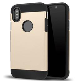 2019 étui iphone rigide Coque de protection robuste avec coussin d'air antichoc pour iPhone X XR 6 7 8 Plus Coque de protection arrière rigide SCA509 promotion étui iphone rigide