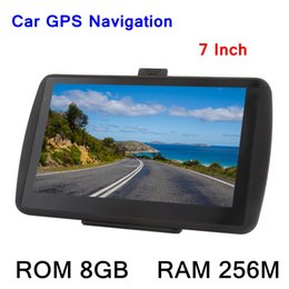 Wholesale touch screen portable mp3 - 7inch HD Touch Screen Car Portable GPS Navigator 256M 8GB MP3 Video Player Car Entertainment System with Free Map FM Game