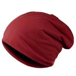 оптовые шляпы индейки Скидка Весна мода Cap мужчины вязаная зимняя шапка повседневная шапочки для мужчин сплошной цвет хип-хоп сутулость Skullies капот унисекс шляпа Gorro