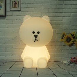 Wholesale Kids 12v - Dimmable Led Table Lamp Baby Children Kids Gift Animal Cartoon Decorative Lamp Bedside Bedroom Living Room Modern Lighting