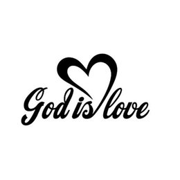 4f6859546bf car love stickers Promo Codes - Artworks God is love Vinyl Decal Sticker  Art Painting Car