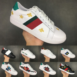 76137a6c402 Designer ACE Running Shoes for Men Women Flat Casual shoes Top Quality  Genuine Leather Bee Embroidered Sports Sneaker Luxury shoes 36-44