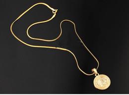 collar de trébol de concha de oro Rebajas Venta limitada de marca de calidad superior Medusa colgante collares para hombre 2017 Hot Hiphop joyería chapado en oro accesorios de lujo envío gratis