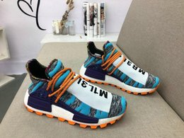 810d9f5a9 High Pharrell Williams NMD Hu Solar Pack Men Women Running Shoes Aqua Black  Outdoor MOTH3R Sneakers Human Races Trainers Sports Shoes BB9528