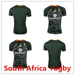 Wholesale Africa Jersey - South Africa Fan 7s Home Rugby Shirt 2018-19 Springboks South Africa Fan 7s Home Rugnewest rugby jersey South Africa rugby jersey size S-3XL
