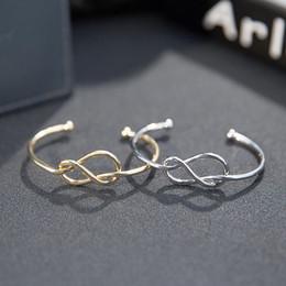 gold brautjungfer armband Rabatt Feminina Einfache Knoten Manschette Armband  Manchette Knoten Armreif Frauen Brautjungfer Schmuck 052e836e8f