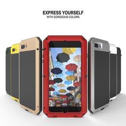 Wholesale Dustproof Waterproof Iphone - Shockproof Premium Aluminum Glass Metal Phone Case Cover for Apple iPhone 7 8 Waterproof Dustproof Case