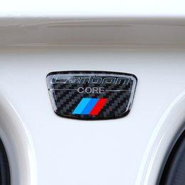 X1 carbone en Ligne-Autocollants de colonne de carbone d'emblème de fibre de carbone B pour l'e46 e40 e60 e60 e90 f30 f34 f10 1 2 3 5 7 série x1 x3 x5 x6 voiture-style