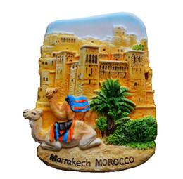 Marrakech Maroc mur de la vieille ville peint à la main en 3D aimants pour réfrigérateur souvenirs de voyage du monde réfrigérateur autocollants magnétiques ? partir de fabricateur