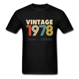 Camisas de los hombres de la vendimia 1978 de la moda 40.o regalo de cumpleaños T 80s personalizada camiseta impresa para hombre más el tamaño Camisetas desde fabricantes