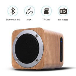 flash drives linterna Rebajas iLEPO i7 HiFi de madera maciza Bluetooth 4.0 Altavoz estéreo Ordenador Altavoces de madera con subwoofer Caja de sonido Super Bass Radio FM de color caqui