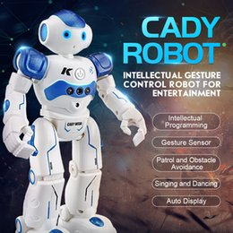 Wholesale Remote Controlled Robot For Kids - RC Robot Intelligent Programming Remote Control Robot Toy Biped Humanoid For Children Kids Birthday Gift dog pet