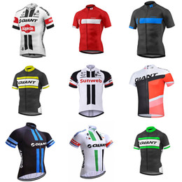 Wholesale Cycling Team Jerseys China - pro team Men's GIANT cycling jersey summer Short sleeve shirts high quality cheap-clothes-china breathable quick dry mtb bike clothing C2401