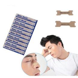 tiras nasales anti ronquidos Rebajas Venta al por mayor 300 unids Detener los ronquidos Tiras anti ronquidos Respirar Tiras nasales Parche Mejorar dormir Mejor aliento Cuidado de la salud para hombres, mujeres