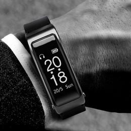 2019 casque de montre de téléphone 2018 Nouveau Pour iPhone Samsung Smartphones Y3 Smart Watch Bracelet 2 en 1 Bluetooth Casque Casque Moniteur de Fréquence Cardiaque promotion casque de montre de téléphone