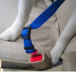 Wholesale Chain Restraints - Adjustable Pets Vehicle Car Safe Seat Belt Dog Harness Outdoor Walking Playing Lead Restraint Universal NylonDog Car Seat