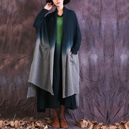 Wholesale spring trench coats for women - Autumn spring Cotton linen Trench Coats for women Mori girl Long sleeve Vintage Women Coats four color