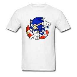 sonic games Coupons - Men Graphic Tops Tees The Hedgehog Summer Custom Designer Mens Own Logo T Shirt 2018 Trendy Sonic Adventure Game T-Shirt Funny
