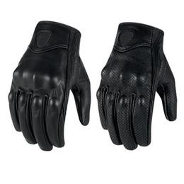 Guantes de moto Impermeable Ventilación Guante de cuero genuino Guante de invierno Guantes tácticos deportivos Color negro desde fabricantes
