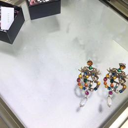Женщины Роскошный Дизайнер Мотаться Серьги Ретро Кристалл Заявление Кольцо Neckalce Брошь JewelrySet Известный Европейский Бренд Ювелирных Изделий от