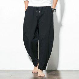 breite beinhose für den frühling Rabatt Mens-Sommer-Frühling im chinesischen Stil Hosen lose Laterne Hosen Harem Hosen breite Beinhosen Freies Verschiffen