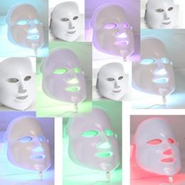 máscaras faciais apertar a pele Desconto DHL Livre 7 Cores Luz Fóton LED Máscara Facial Elétrica Rosto Cuidados Com A Pele Rejuvenescimento Terapia Anti-envelhecimento Anti Acne Clareamento Da Pele Aperte