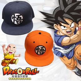 Wholesale dragon ball cap - Dragon Ball Z Goku Hat big kids Snapback Flat Hip Hop caps 4 styles Casual Baseball Cap EEA435 12PCS