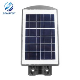 Wholesale power industrial - 20W 40W LED Street Lights Road Lamp Waterproof 2835SMD LED Solar Power Light Outdoor Road Street Wall Lamp Grey