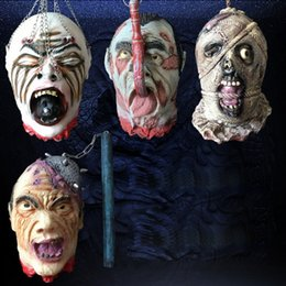 Wholesale Haunted House Masks - 1pcs Halloween Mask Festival Party Cosplay Costume Supplies Haunted House Props Full Face Breathable Latex Mask