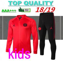 647e5c0dfc2f7 De calidad superior 2018 paris niños chándal MBAPPE camiseta de fútbol  Trining suit Tailandia 18 19 Suéter PSG entrenamiento de fútbol Ropa  deportiva para ...