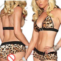 Canada Costumes Lingerie Sexy Hot Leopard modèle Dentelle Robe Corsets Ouvert Entrejambe Erotique Lingerie Teddy Porn Sex Babydoll supplier erotic corset lingerie Offre