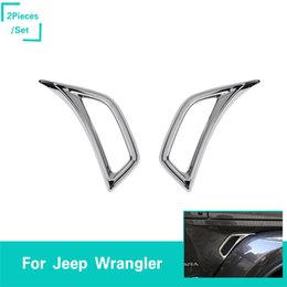 Chrome Feuille Plaque D'entrée D'air Décoration Pour Jeep Wrangler JL 2018 Sortie D'usine Haute Quatlity Auto Accessoires Internes ? partir de fabricateur